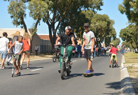 Main Road for feet, rollerblades, skateboards and bicycles on Open Streets Day